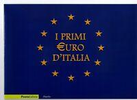 ITALIA - FOLDER 2002 - I PRIMI EURO D'ITALIA -VALORE FACCIALE € 10,00 sconto 30%