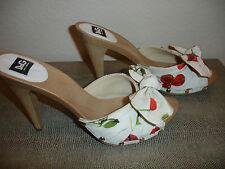 D&G Cherry Print Platform Shoes
