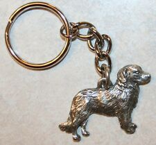 Nova Scotia Duck Tolling Retriever Fine Pewter Keychain Key Chain Ring Fob