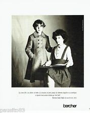 PUBLICITE ADVERTISING 116  1977   Vetements manteau enfant Bercher