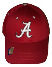 Alabama Crimson Tide Cap Structured Adjustable Crimson Logo Hat NCAA Headwear