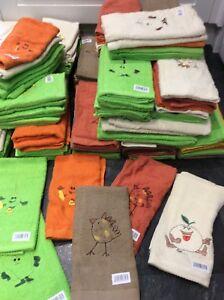 Bright Coloured Kitchen Hand Towel / Tea Towel X 6 Ideal Cafe Etc