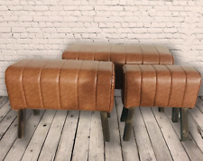 3 x Faux Leather Pommel Horse Stools Seats Chair Bench Home Furniture Footstool