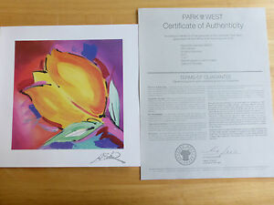 ALFRED GOCKEL 'BRINGING HAPPINESS' SERIOLITHOGRAPH IN COLOUR ON PAPER WITH COA