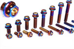 2pcs M8 x 15/20/25/30/35/40/45/50mm Titanium alloy Flange Bolts Screws