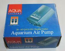 NEW 20-60 gallon double outlet Aqua Culture MK-1504 Aquarium air pump