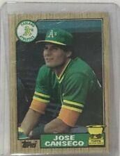 1987 Topps  Jose Canseco All-Star Topps Rookie Card #620 Oakland Athletics MLB
