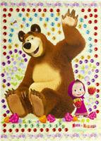 Masha and the Bear Craft Kit Rhinestone Applique Art for Kids