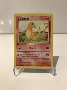 Pokémon TCG Pokemon Karte Basis 1. Edition Glumanda 46/102