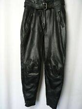 Women's POLO Leather motorcycle Trousers Size UK10 EU38 L28
