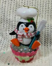 Collectible 2012 Michaels Craft Store Penguin Cook Christmas Tree Ornament