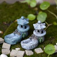 Mini Retro Pond Tower Craft Fairy Garden Decor Figurines Toys Micro Landscape EB