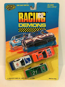 ROAD CHAMPS RACING DEMONS 1990 NEW 3 PACK PEPSI MOUNTAIN DEW GOODYEAR