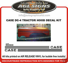 CASE DC-4 TRACTOR DECAL SET, reprocduction   DC 4   DC4