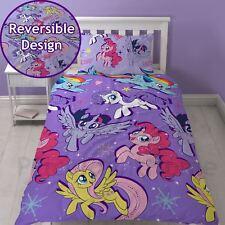 My Little Pony Cinéma Set Housse de Couette Simple Réversible Enfants Filles