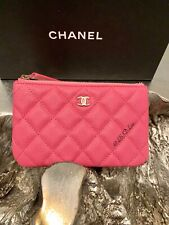 NWT CHANEL 19C Pink Caviar Mini O-Case 2019 Beauty CC Pouch Bubblegum Barbie NEW