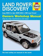 H5562 Land Rover Discovery Diesel (Aug 2004 to Apr 2009) Haynes Repair Manual