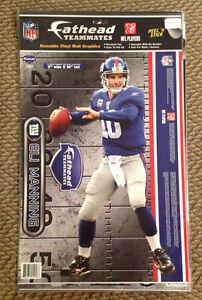 "Eli Manning Fathead Giants 9"" x 16"" NFL Name plate Teammates Super Bowl MVP"