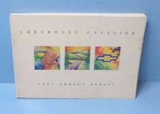 93 1993 Chevrolet Cavalier owners manual