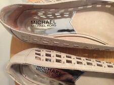 Michael Kors Slip On Ballet Flat Shoe Studded Woven Cream Women Sz 8 M LN