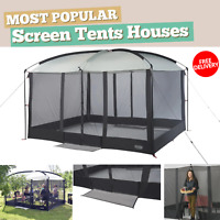 Gazebo Tent 11 ft L x 9 ft W x 7.5 ft H Magnetic Door Screen House For Outdoor