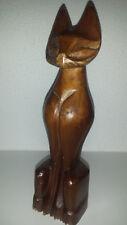 Mid Century KATZE-Figur Holz-Teak? 50er-60er Jahre VINTAGE Wood Cat statue