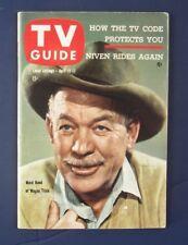 TV GUIDE RARE MISPRINT WAGON TRAIN WARD BOND APRIL 11, 1959 (or 1958?) No Label