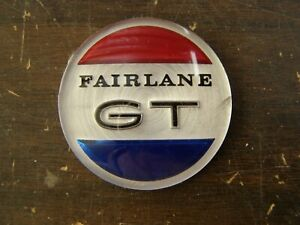 NOS OEM Ford 1966 1967 Fairlane GT Console Center Emblem Ornament Insert Badge