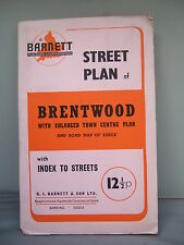 Brentwood Street Plan - Town Centre Plan - Index to Streets - Barnett