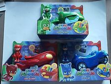 PJ MASKS VEHICLES GEKKO MOBILE OWL GLIDER CAT CAR SET OF 3 BRAND NEW