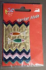 Sticker Thermocollant pour Vêtement Multicolore Brillant Thème Poisson AJC