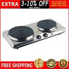 Double Portable Hot Plate Cooker Electric Dual Hotplate Cooktop Caravan Stove
