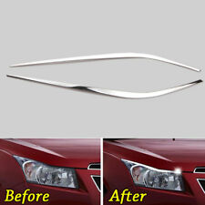 Head Light Front Lamp Eyebrow Eyelid Cover Strip Trim For Chevrolet Cruze 09-14