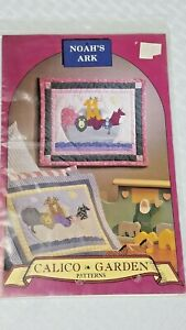 1994 Calico Garden Sewing Pattern UNCUT Mini wall hanging quilt Child Noah's Ark