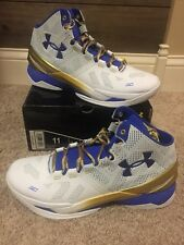 Under Armour Curry 2 Gold Rings Size 11 New Men's Basketball Shoes