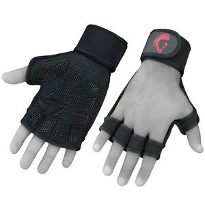 Weight Lifting Glove Wrist Support Gym Workout Cross Training Heavy Duty Pull Up