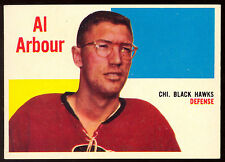 1960-61 TOPPS HOCKEY #64 Al Arbour EX-NM Chicago Blackhawks Hockey card