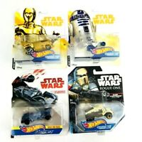 New Hot Wheels Star War Character Cars Die Cast 1:64 Lot of 4