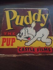VINTAGE MOVIE REEL 8mm CASTLE FILMS PUDDY THE PUP TRICKY TROUBLES