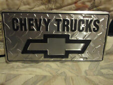 "NEW Chevy Trucks Diamond PLATE 12"" x 6"" ALUMINUM License Plate Tag"