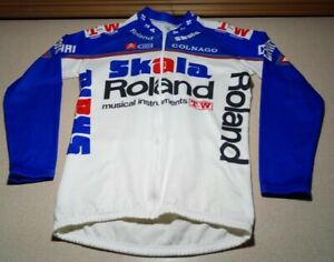 Vintage Colnago Skala Roiand Musical Instruments Bike Cycling Jersey Small Italy