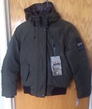 Point Zero Mens Down Jacket- New With Tags- Small - Military Green -$325