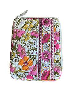Vera Bradley Tea Garden E-Reader sleeve Tablet Book, Zip around Pink Floral Gray