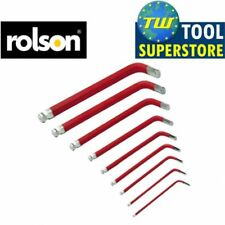 Rolson 1.5mm-10mm 9pc métrique bras court ball end hex key set avec support de voiture van