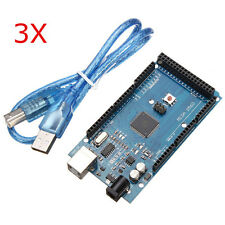 3Pcs Mega2560 R3 ATMEGA2560-16AU + CN340 Board With USB For Arduino