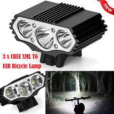 12000 Lm 3 x XML T6 LED 3 Modes Bicycle Lamp Bike Light Headlight Cycling Torch