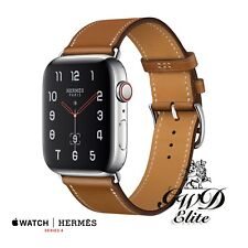 Series 4 Hermes 40mm Apple Watch with Single Tour Fauve Stainless Steel NIB