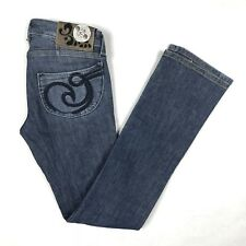 House of Dereon Womens Straight Leg Jeans Size 27 x 27 Medium Wash Stretch Denim