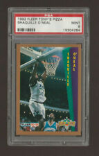 New listing 1992 Fleer Tony's Pizza Shaquille O'Neal ROOKIE PSA 9 Mint ultra rare RC invest