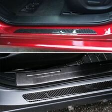 Car Stickers Parts Accessories Carbon Fiber Door Sill Protector Scuff Plate Trim Fits Jeep Wrangler Unlimited